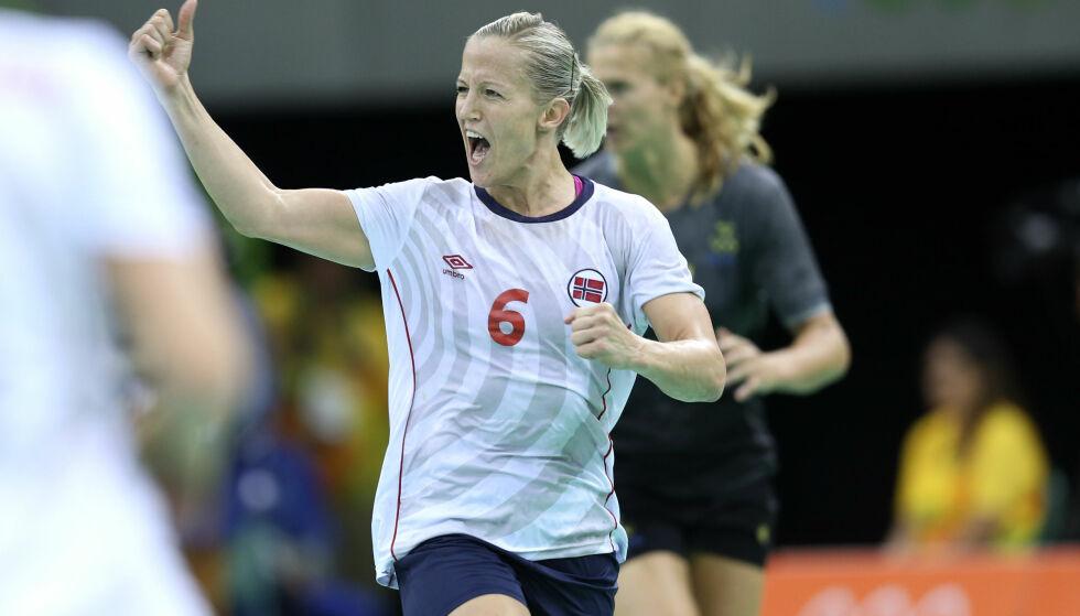 GOD SOM GULL: Heidi Løke har gjennom en suksessrik håndballkarriere vært med på å ta en rekke medaljer for Norge. Foto: NTB Scanpix