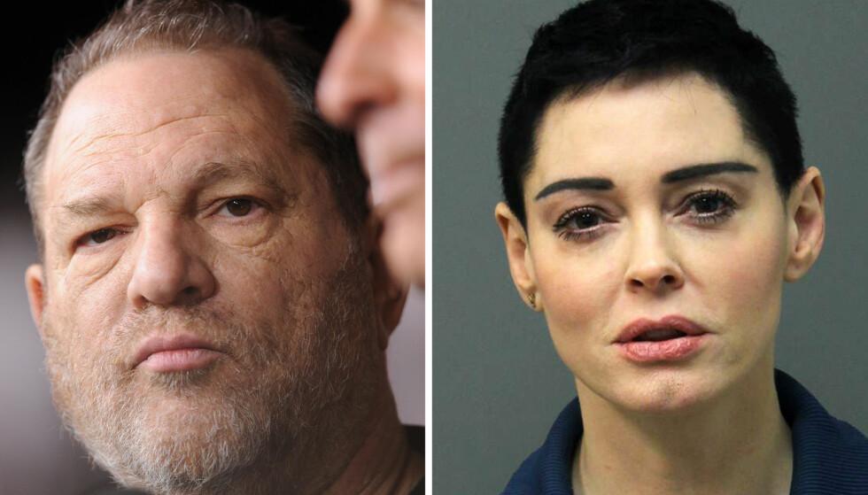 UTSATT FOR HEKSEJAKT?: Skuespiller Rose McGowan mener at filmmogul Harvey Weinstein har en personlig vendetta mot henne etter at hun anklaget ham for voldtekt. Denne uken ble hun arrestert for besittelse av kokain. Foto: NTB scanpix