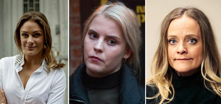 TAR ET OPPGJØR: Jenny Skavlan, Ulrikke Falch og Henriette Steenstrup er blant de 487 norske kvinnelige skuespillerne som tar et oppgjør med seksuell trakassering i bransjen. Foto: NTB Scanpix