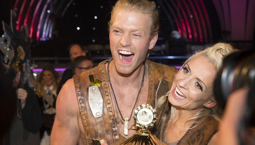 USIKKER: Eilev Bjerkerud og dansepartner Nadya Khamitskaya vant finalen i fjor. I år er han ikke sikker på hvem av de talentfulle deltakerne som trekker det lengste strået. Foto: NTB scanpix