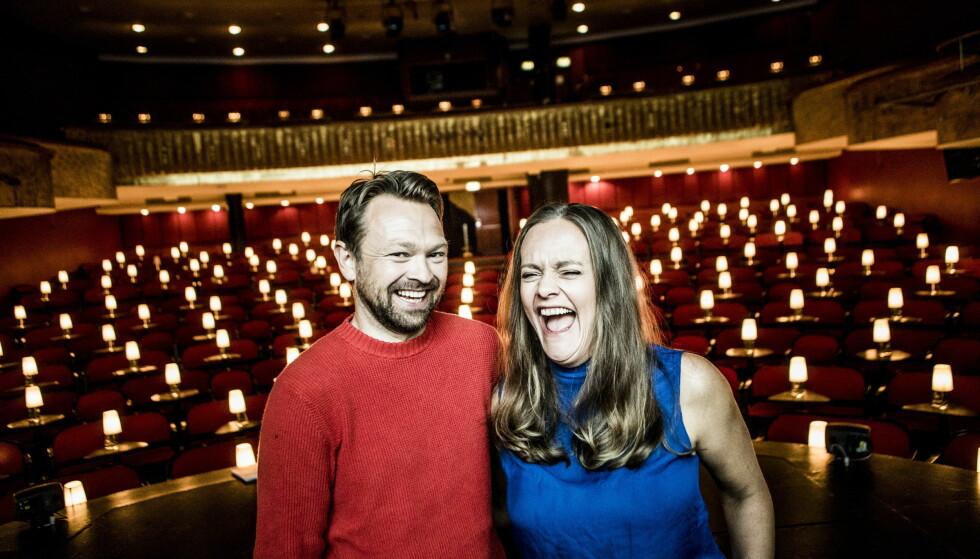 PÅ SCENEN: John Brungot og Henriette Steenstrup har drømt om å lage noe sammen på scenen i en årrekke. Neste år får de muligheten på Chat Noir i Oslo. Foto: Christian Roth Christensen / Dagbladet