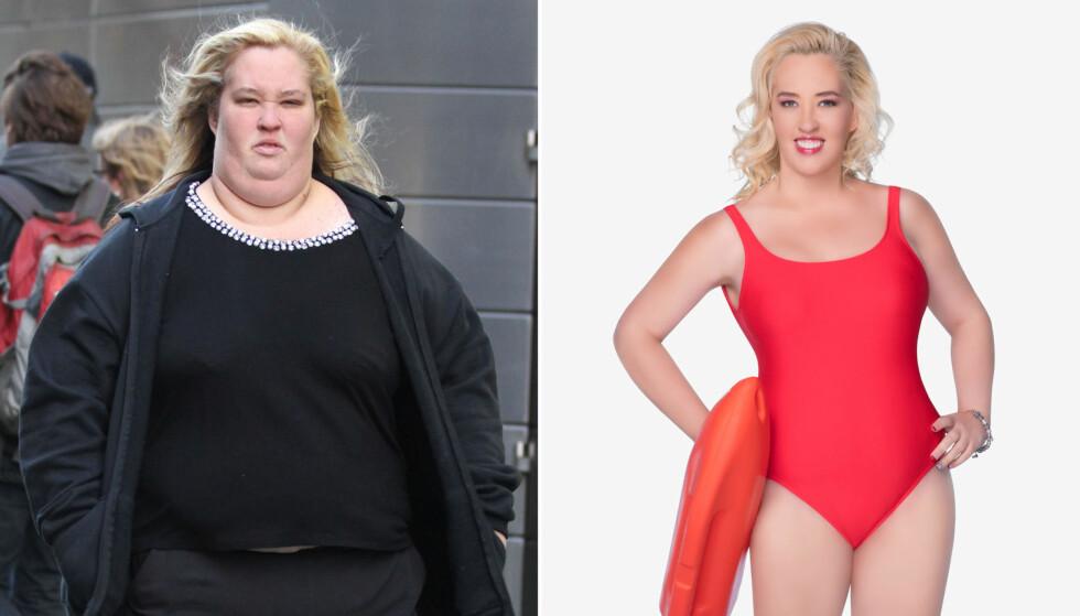STOR FORVANDLING: June Shannon fra TV-serien «Here comes Honey Boo Boo» har gått ned over 130 kilo. Nå vil hun prøve seg deltaker i en missekonkurranse. Foto: Stella Pictures/NTB Scanpix