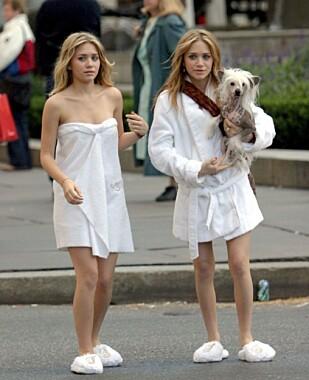UNGE STJERNER: Mary-Kate og Ashley Olsen har helt siden barndommen vært i medias søkelys. Foto: All Over Press