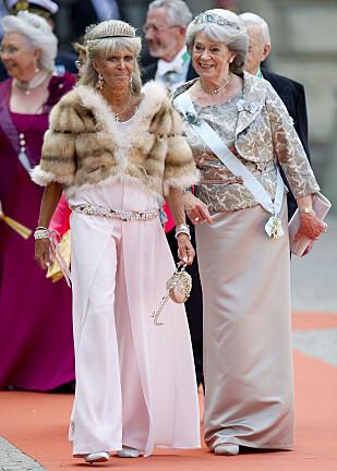 <strong>GÅR SIN EGEN VEI:</strong> Prinsesse Birgitta har gjentatte ganger blitt utgangspunkt for store overskrifter. Spesielt er det hennes prioriteringer som skaper reaksjoner. Her avbildet i forbindelse med bryllupet til prins Carl Philip og prinsesse Sofia. Foto: NTB Scanpix