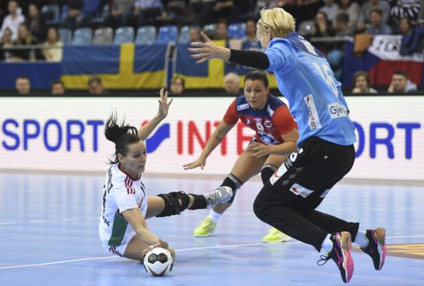 SEIER: Katrine hadde mange gode redninger da Norge møtt Ungarn på lørdag. Foto: AP