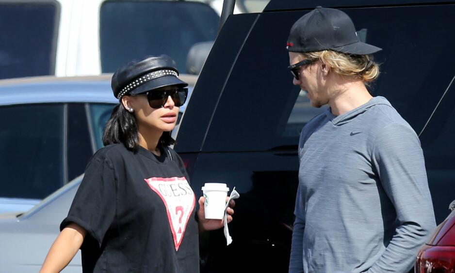 LYKKEN BRAST: Skuespiller Naya Rivera og ektemannen Ryan Dorsey går hver til sitt. Dette bare dager etter at førstnevnte ble beskyldt for vold mot ektemannen. Foto: NTB Scanpix