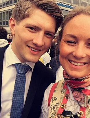 AVSTANDSFORHOLD: Emilie og kjæresten Lasse gjør det beste ut av at de bor i hver sin by og prøver og treffes et par ganger i uken. Foto: Privat