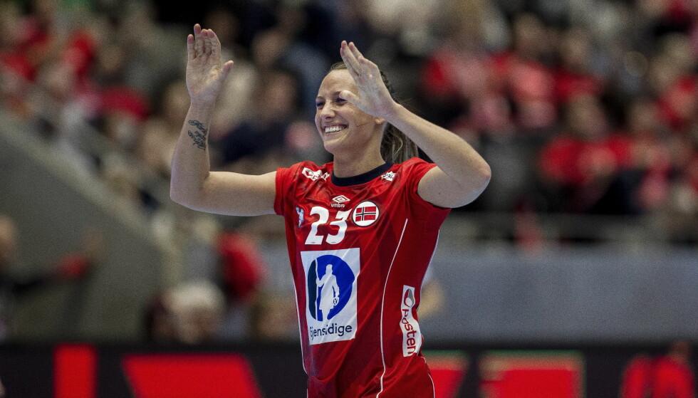 FAMILIE: Camilla Herrem har tatovert «Family means everything» på den ene armen. Foto: Carina Johansen / NTB scanpix