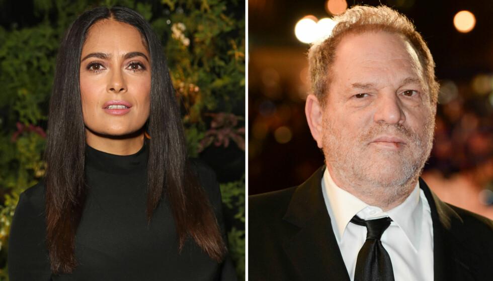 <strong>- MITT MONSTER:</strong> Skuespiller Salma Hayek har skrevet et lengre brev, publisert i The New York Times, der hun omtaler Harvey Weinstein som et monster og kommer med særdeles oppsiktsvekkende anklager mot filmprodusenten. Foto: NTB Scanpix