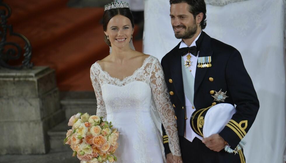 SA JA: Sofia og Carl Philip giftet seg i 2015, mens en hel verden fulgte med. Foto: NTB scanpix