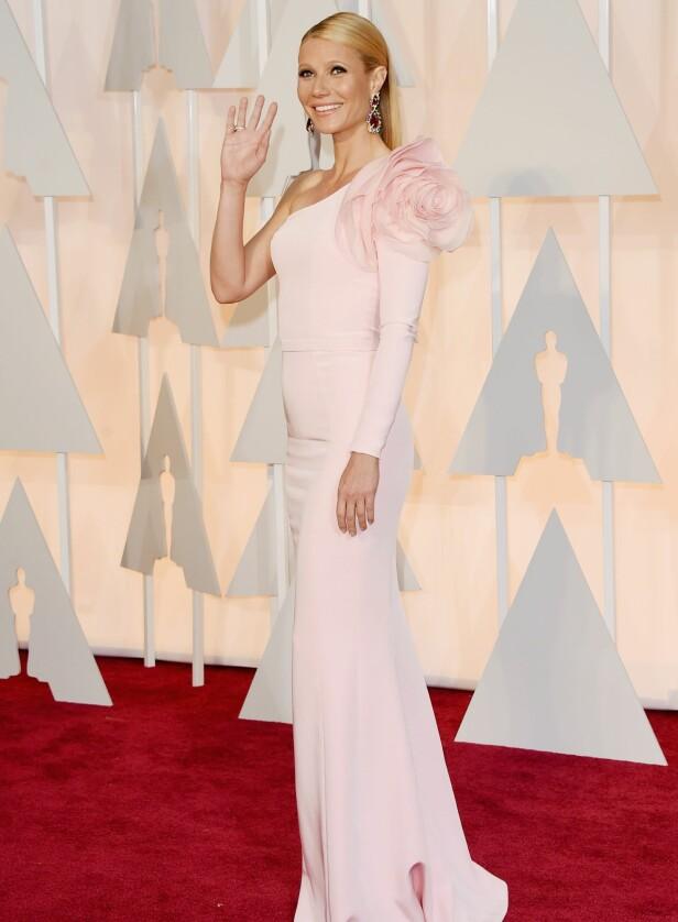 KJENDISFAVORITT: Gwyneth Paltrow i en kjole fra Ralph & Russo på Oscar-utdelingen i 2015. Foto: AFP/ NTB scanpix