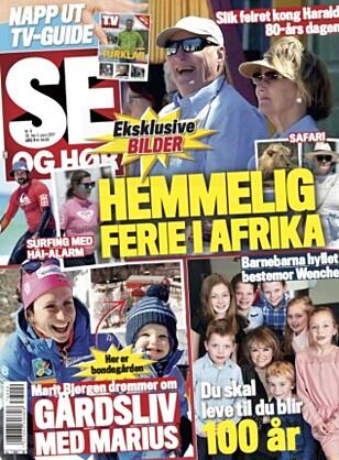 EKSKLUSIVE BILDER: I tirsdagsutgaven 28. februar kunne du lese alt om om kongefamiliens hemmelige Afrika-ferie.