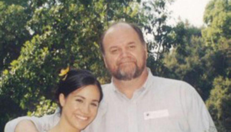 KOM IKKE: Meghans far, Thomas Markle, skulle i utgangspunktet følge datteren til alters. Han kunne ikke delta grunnet en hjerteoperasjon. Foto: NTB Scanpix