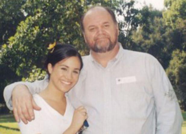 MED FAREN: Meghan Markle avbildet sammen med faren, Thomas Markle, før hun ble berømt og forlovet seg med prins Harry: Foto: Splash News/ NTB scanpix