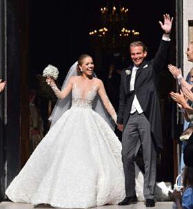 GIFT: Swarovski-arvingen giftet seg med investoren Werner Mürz. Foto: Splash News