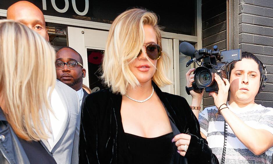 OPPGJØRETS TIME: Khloe Kardashian og kjæresten Tristan Thompson bekreftet forrige uke at de venter barn. De påfølgende dagene har ikke bare vært enkle for førstnevnte. Foto: NTB Scanpix