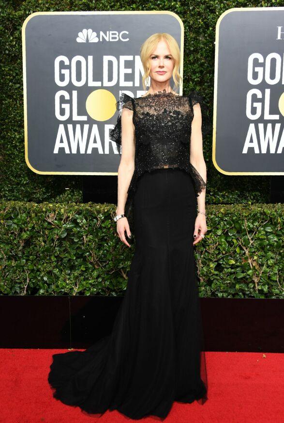 I BRESJEN: Nicole Kidman var blant stjernene som på forhånd sa de ønsket å støtte kampanjen. På seg hadde hun couture fra Givenchy. Foto: NTB scanpix