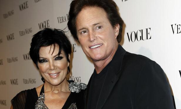 REALITYSTJERNER: Bruce Jenner og Kris Jenner var gift fra 1991 til 2015. De to har blitt kjente gjennom TV-serien «Keeping up with the Kardashians». Foto: NTB Scanpix