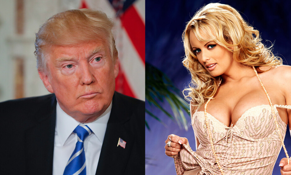 KONFLIKT: En anerkjent, amerikansk avis hevder at Donald Trump skal ha hatt et sidesprang med pornoskuespilleren Stephanie Clifford, ett år etter at han giftet seg med Melania Trump. Han skal ha betalt henne for å være stille om affæren. Foto: Splash News, NTB scanpix