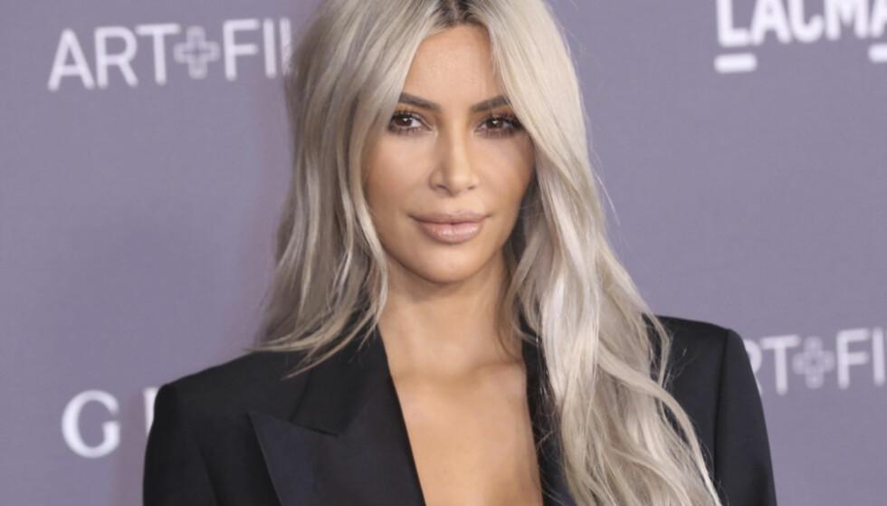BABYLYKKE: Kim Kardashian West bekrefter på sin egen hjemmeside at hun og ektemannen har blitt foreldre til en liten jente. Foto: NTB Scanpix