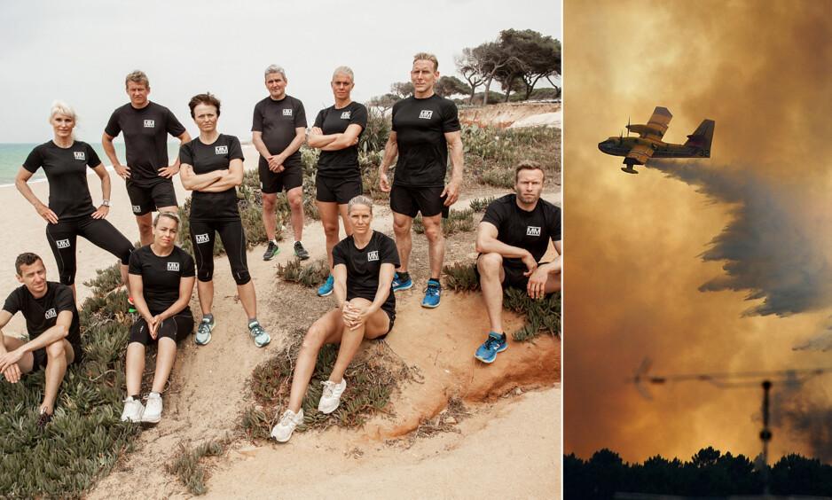 TRAGEDIE: Portugal ble rammet av en dødelig skogbrann under «Mesternes mester»-innspillingen i fjor sommer. NRKs base i byen Faro ble spart av flammene, men deltakerne ble likevel sterkt preget av den nasjonale katastrofen. Foto: Rubicon TV/NRK/ NTB scanpix