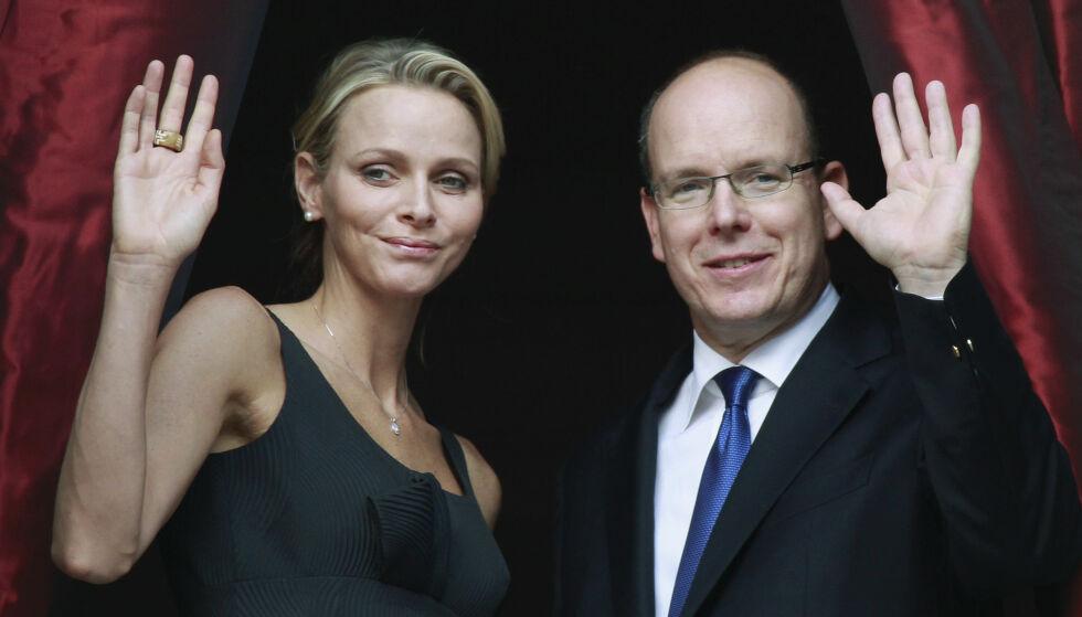 SUPERPAR: I dag er Charlene fyrstinne av Monaco. Det er ikke en tittel hun alltid har hatt. Før hun møtte Albert av Monaco, var hun en afrikansk svømmer. Her er paret fotografert i 2011, før de giftet seg. Foto: NTB scanpix