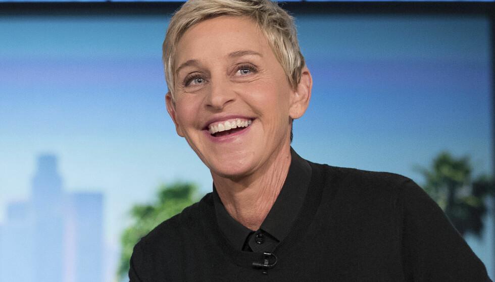 BURSDAG: Fredag 26. januar fyller talkshowdronninga Ellen DeGeneres 60 år. Selv mener hun at hun fortsatt er et barn. Foto: NTB Scanpix