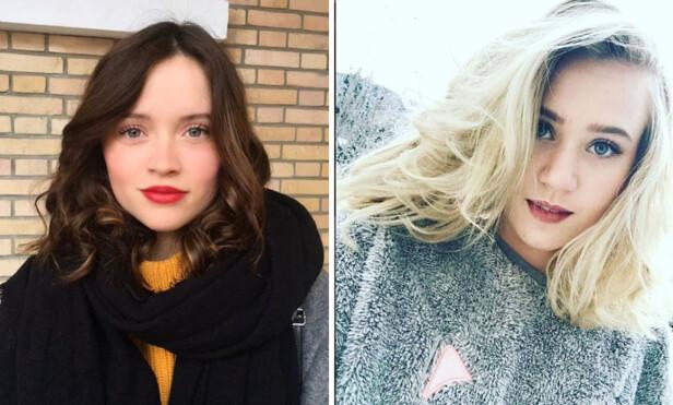 «SKAM»-Noora: Det er franske Marilyn Lima f.v, som skal spille Noora i den franske versjonen av SKAM. Til høyre er den norske skuespilleren Josefine Pettersen. Foto:Instagram/marilyn.lima/josefinfrid