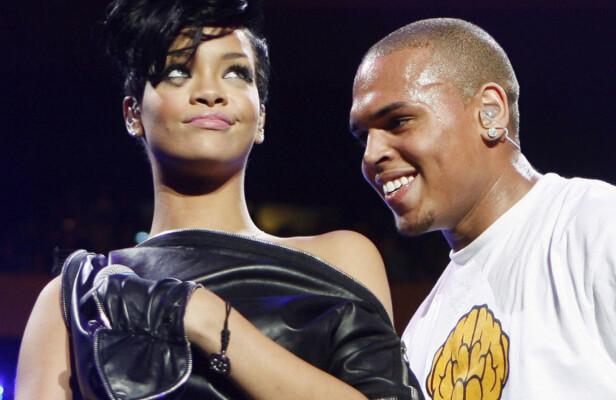 STORE: Rihanna og Chris Brown var et av verdens mest omtalte par i sin tid. De gikk fra hverandre etter at Brown gikk til angrep på popstjernen i 2009. Foto: NTB scanpix