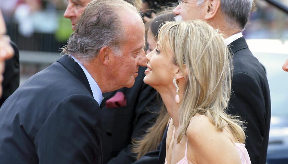 SKANDALE-AFFÆRE: Kong Juan Carlos avbildet sammen med elskerinnen Corinna. Foto: All Over Press/ NTB scanpix/ Se og Hør
