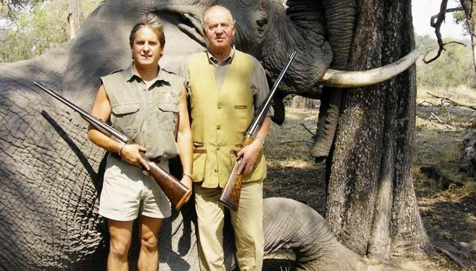 UFF DA: Jaktbildene fra kong Juan Carlos kjærlighetsferie i Botswana falt ikke i god jord hos det spanske folk. Foto: All Over Press/ NTB scanpix/ Se og Hør