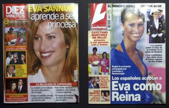 POPULÆR: Spansk presse skrev mye om den norske skjønnheten Eva Sannum. Foto: Faksimile