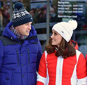FORNØYDE: William og Kate så ut til å storkose seg i Holmenkollen. Foto: NTB Scanpix