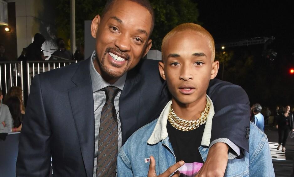 NÆRT FORHOLD: Det er liten tvil om at Will Smith er stolt over sin sønn, Jaden. Det ønsker han nå å vise, om enn på en litt spesiell måte. Foto: Michael Kovac/Getty Images for Netflix/AFP/ NTB Scanpix