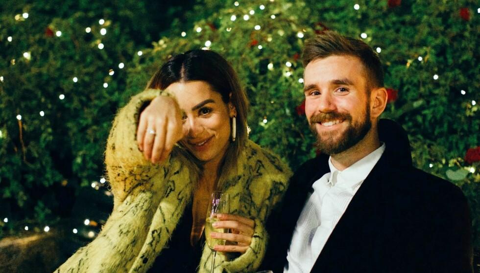 <strong>LETTER PÅ SLØRET:</strong> Jamina Iversen og Stian Blipp forlovet seg i fjor. Paret - som også er samboere - har vært sammen siden 2013. Nå åpner førstnevnte opp om bryllupsplanleggingen. Foto: Veronica Solheim