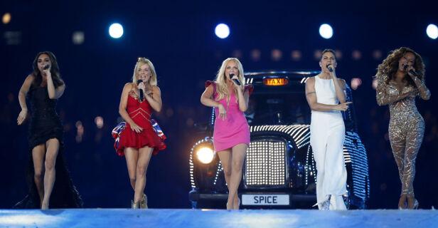 GJENFORENT: Forrige gang vi fikk se jentegruppen på scenen sammen var under OL i London i 2012. Foto: AP / NTB Scanpix