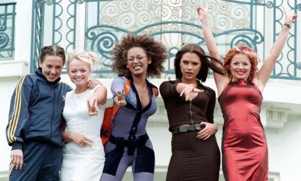 SUPERGRUPPE: Jentene i «Spice Girls» gjorde braksuksess med hitsingelen «Wannabe» i 1996, og ble siden en av verdens største jentegrupper. Foto: NTB Scanpix
