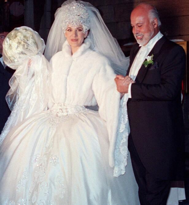 GIFT I 21 ÅR: Celine Dion og ektemannen René giftet seg i 1994 i Montreal i Canada. Foto: Pa Photos/ NTB scanpix