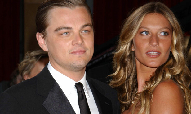 FEM ÅR SAMMEN: Gisele Bündchen og Leonardo DiCaprio fotografert sammen under Oscar-utdelingen i 2005. Foto: Photo/Jennifer Graylock / AP Photo / NTB scanpix