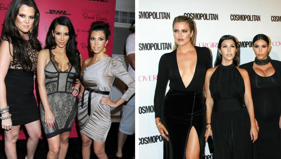 FORANDRING: Hele Kardashian-familien har forandret seg de siste årene. De har alle vært åpne om inngrep og endringer på kroppen. Foto: NTB Scanpix