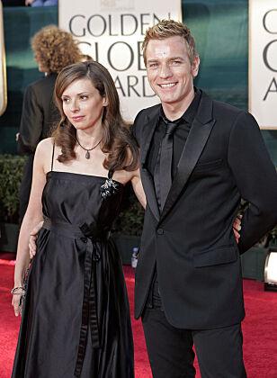BRUDD: Etter 22 år valgte Ewan og Eve å fortalte hverandre. For McGregors del var det til fordel for en 13 år yngre kollega. Foto: NTB scanpix
