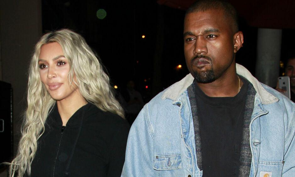 NYTT ALBUM: På sitt siste album som ble utgitt torsdag, omtaler Kanye West for første gang sin mentale lidelse. Her med kona Kim Kardashian. Foto: Splash News/ NTB Scanpix