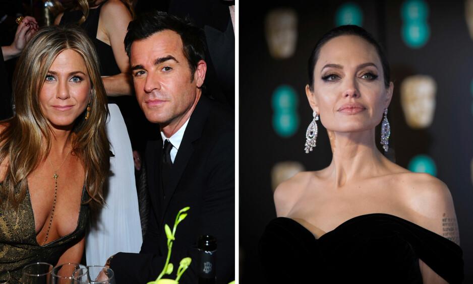 DRAMA: Hollwyood-stjernen Angelina Jolie skal ha et sterkt ønske om å få jobbe sammen med eksmannen til Jennifer Aniston, Justin Theroux. Foto: NTB Scanpix