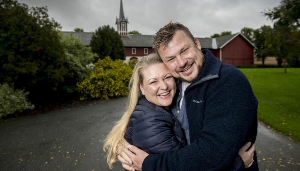 FORLOVET: Maria Bjørndal og Erik Grytnes fant kjærligheten i TV 2- programmet «Jakten på Kærligheten». Nå er paret forlovet. Foto: Lars Eivind Bones / Dagbladet