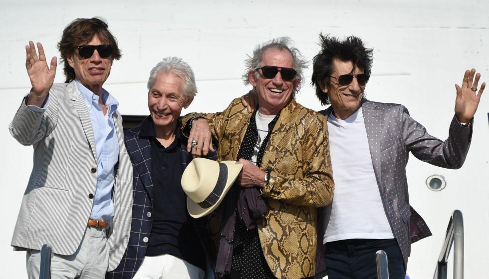 LEGGER SEG FLAT: I et intervju går Keith Richards hardt ut mot Mick Jagger, som i 2016 ble far til sitt åttende barn. Richards mener han kanskje burde sterilisert seg, en uttalelse som skapte overskrifter verden over. Nå legger han seg flat. Her er bandmedlemmene samlet i 2016. Foto: NTB scanpix
