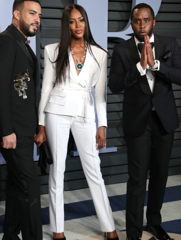 KUL TRIO: French Montana, Naomi Campbell og Sean «P. Diddy» Combs. Foto: Matt Baron/ REX/ Shutterstock/ NTB scanpix