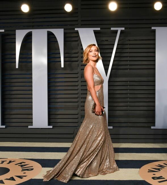 GLITRET: Skuespiller Olivia Wilde. Foto: Owen Kolasinski/BFA/REX/Shutterstock/ NTB scanpix