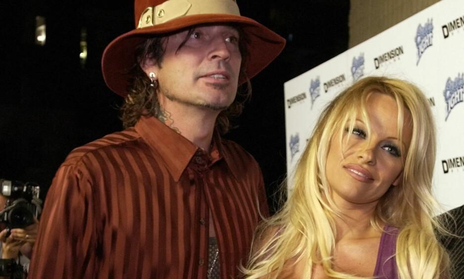 FULL KRANGEL: Brandon, sønnen til Tommy Lee og ekskona Pamela Anderson, skal angivelig ha angrepet faren sin mandag kveld. REUTERS / Lucy Nicholson