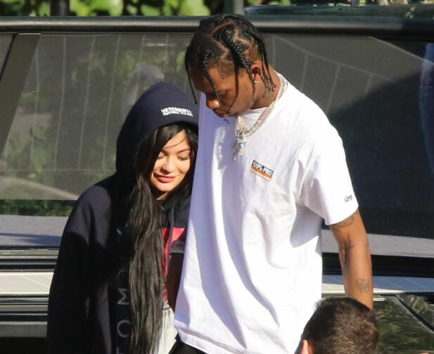 BARNEFRI: Kylie og Travis koste seg sammen i Miami tidligere denne måneden. Foto: NTB scanpix