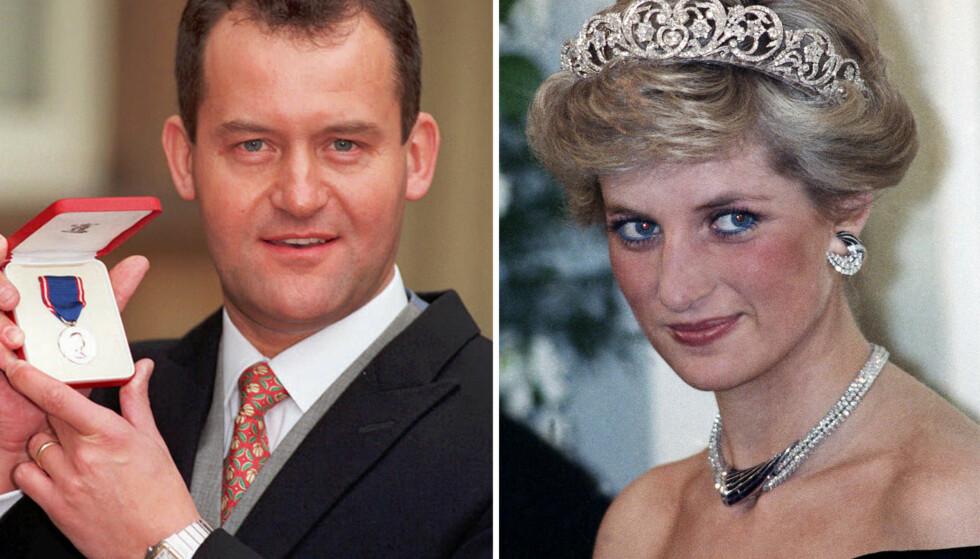 <strong>OMSTRIDT:</strong> Prinsesse Dianas tidligere butler, Paul Burrell (t.v.), har en rekke ganger vekket oppsikt med sine uttalelser og avsløringer om både henne og den britiske kongefamilien for øvrig. Foto: NTB scanpix